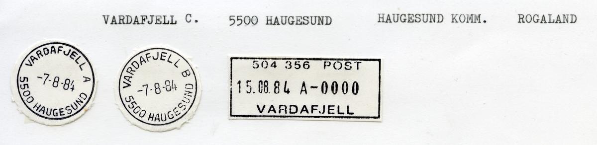 Vardafjell, Haugesund, Rogaland