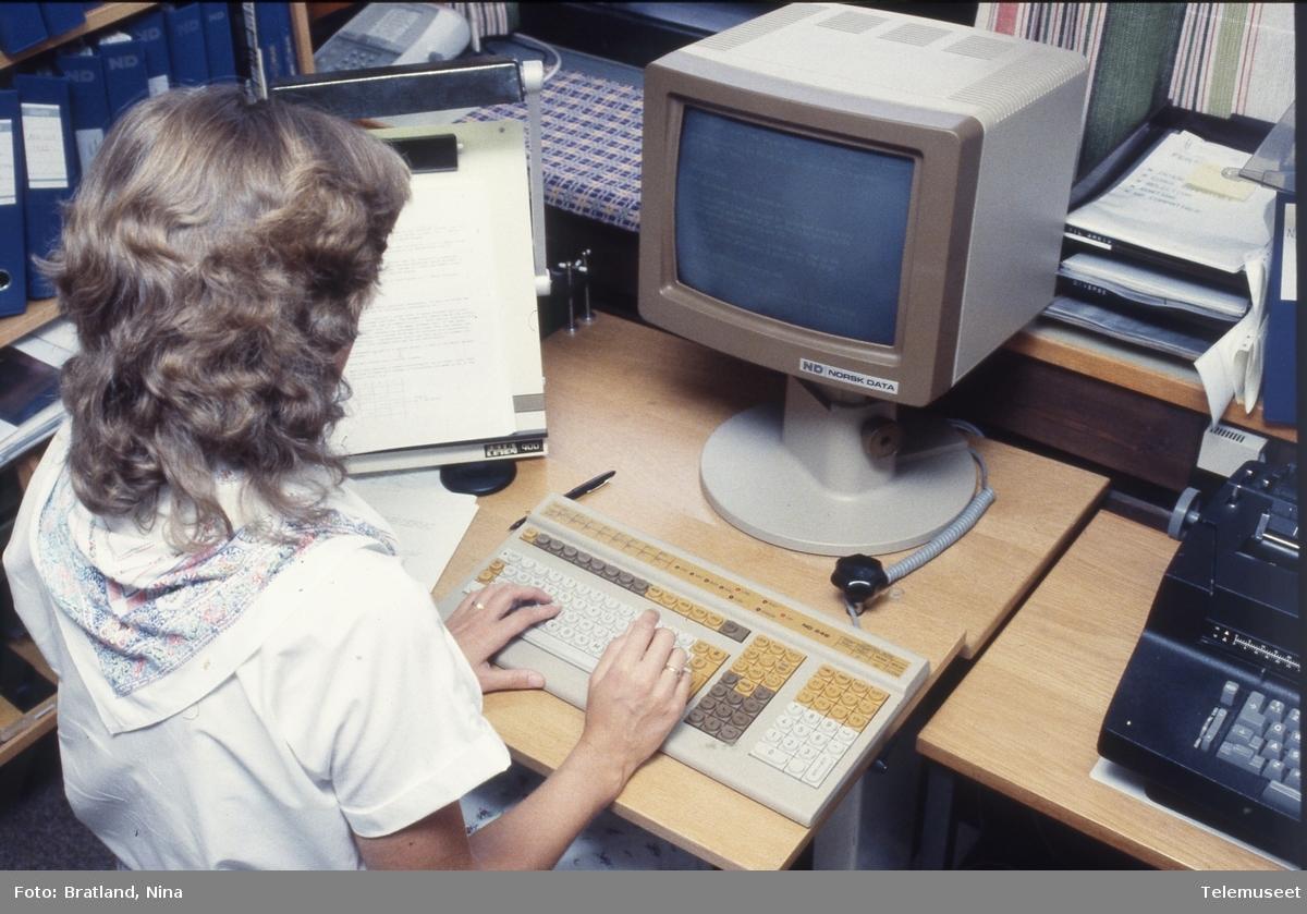 Datamaskiner arbeidssituasjon Norsk Data