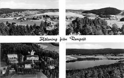 """Vykort """"Hälsning från Rengsjö"""",  Hälsingland"""