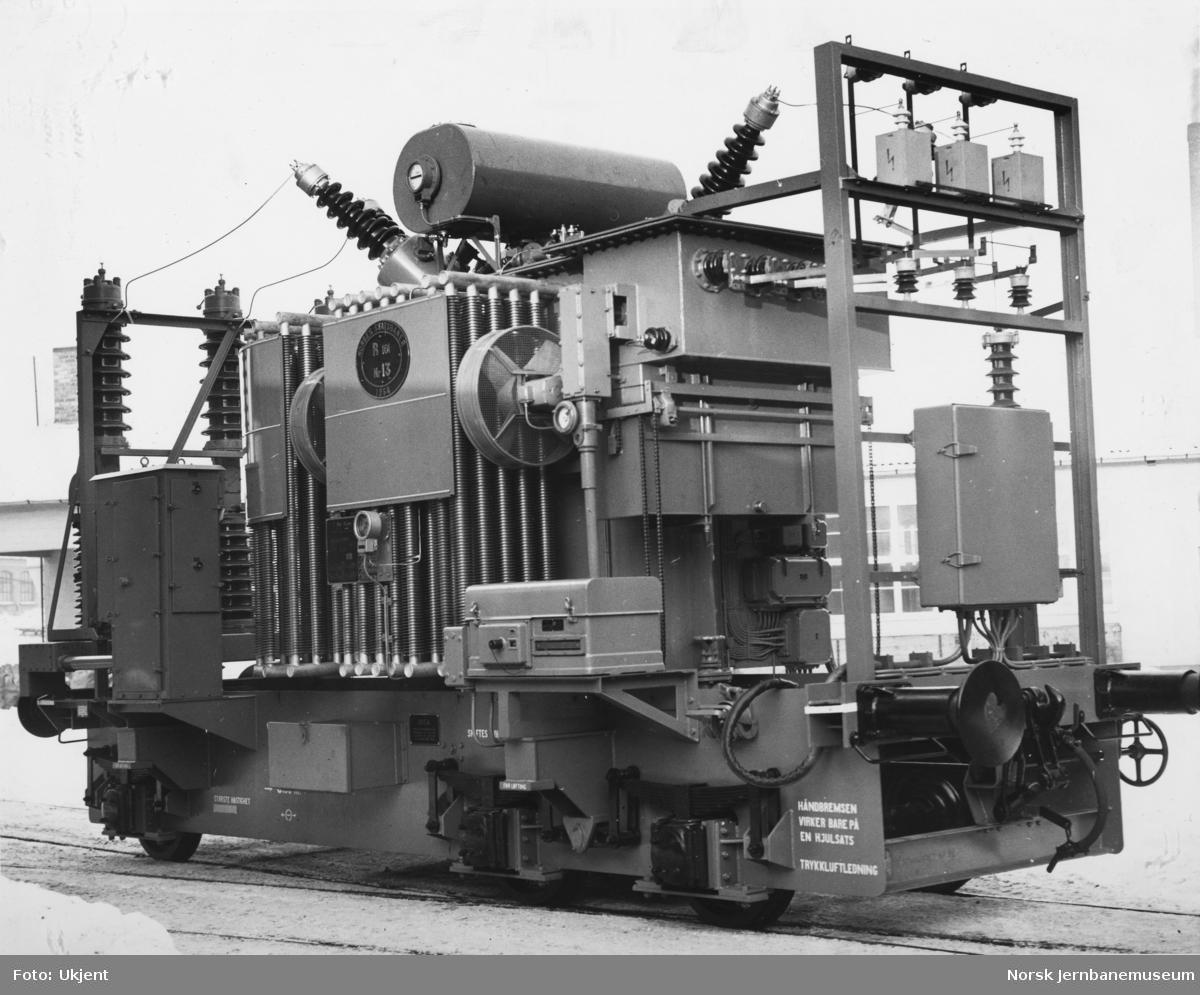 Trefase transformatorvogn for transportabel omformer litra R101 nr 13