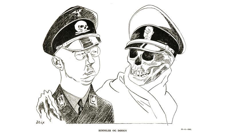 Illustrasjon av Ragvald Blix, kallt «Himmler og døden» (mai 1945) (Foto/Photo)