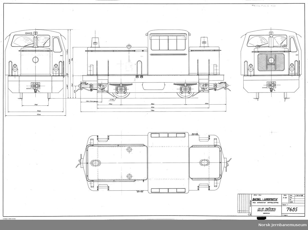 HØKA DHL-300 Diesel-lokomotiv med automatisk sentralkoppel Prosjekt, ikke realisert