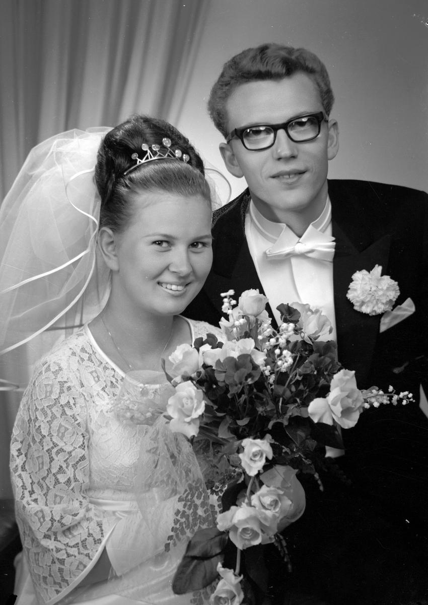 Brudparet Ulf Walldén, Hedesunda. Den 24 juni 1967