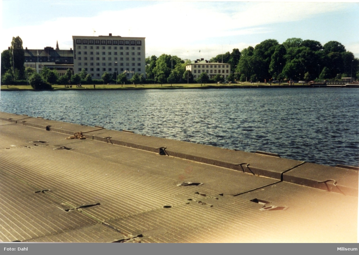 Flytbro, Munksjön. Byggd av Ing 2, Eksjö.