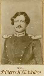 Porträtt av Henrik Fabian Ludvig Wrede, underlöjtnant vid An