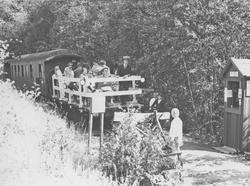 Fra museumsbanen Urskog-Hølandsbanens midlertidige endestasj