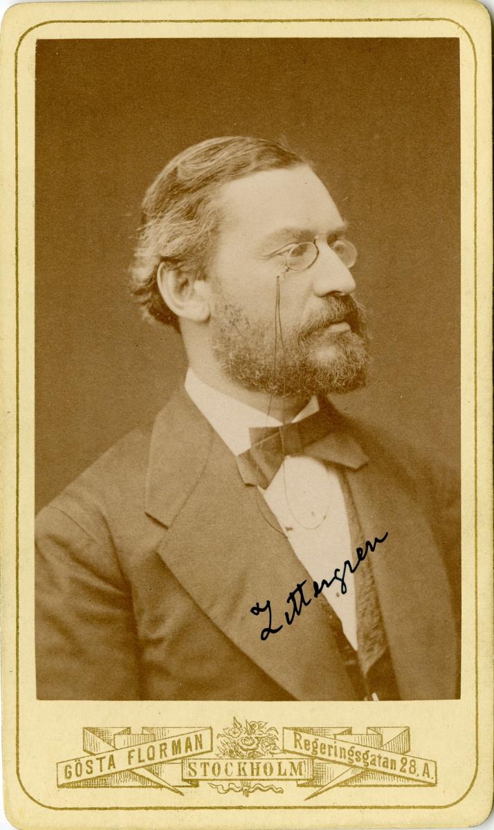 Porträtt av Edvard Philibert Zettergren, major vid Fortifaktionen.