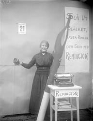 Reklam för Remington skrivmaskiner