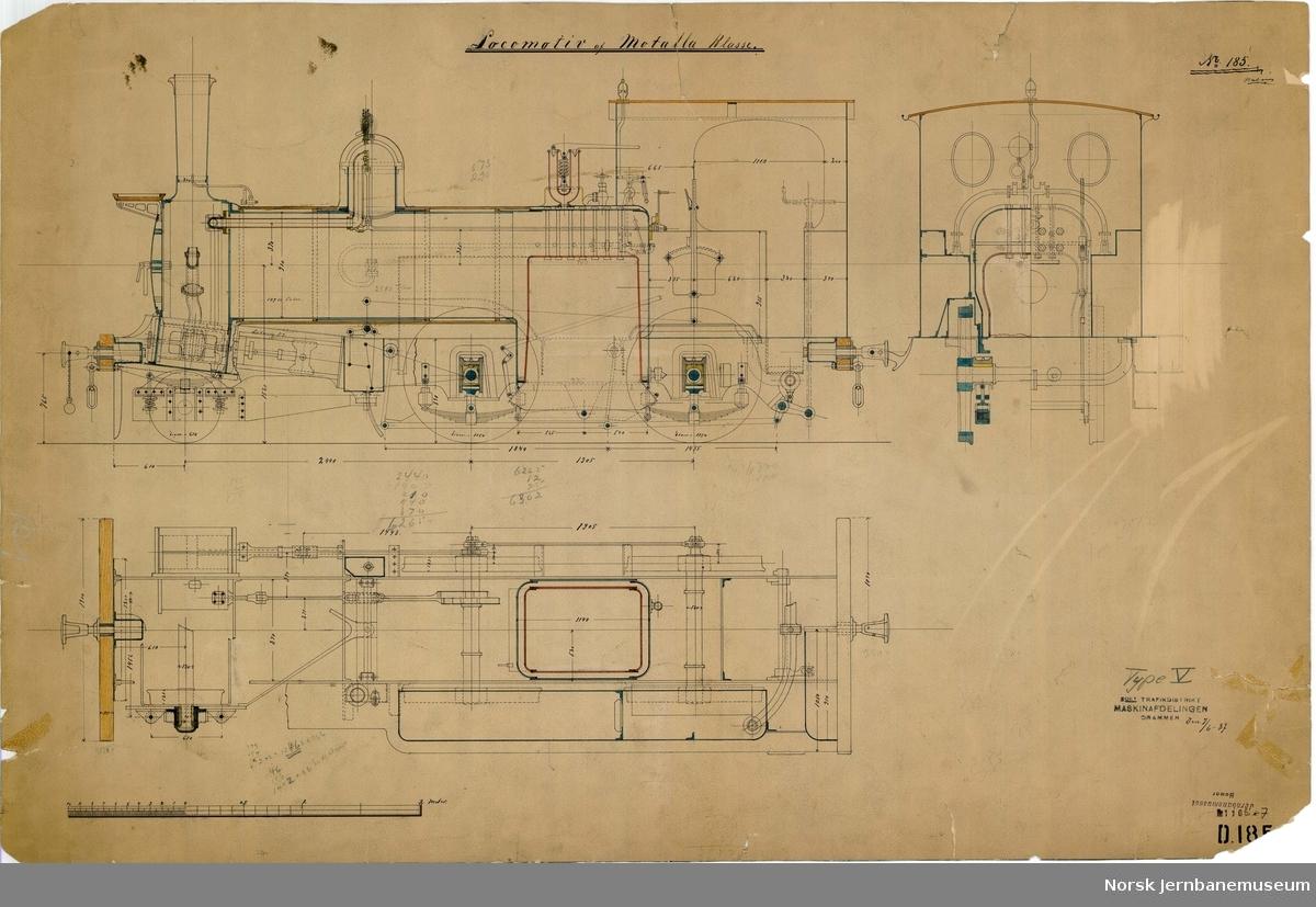 NSB damplok type V, smalt spor Locomotiv af Motala Klasse