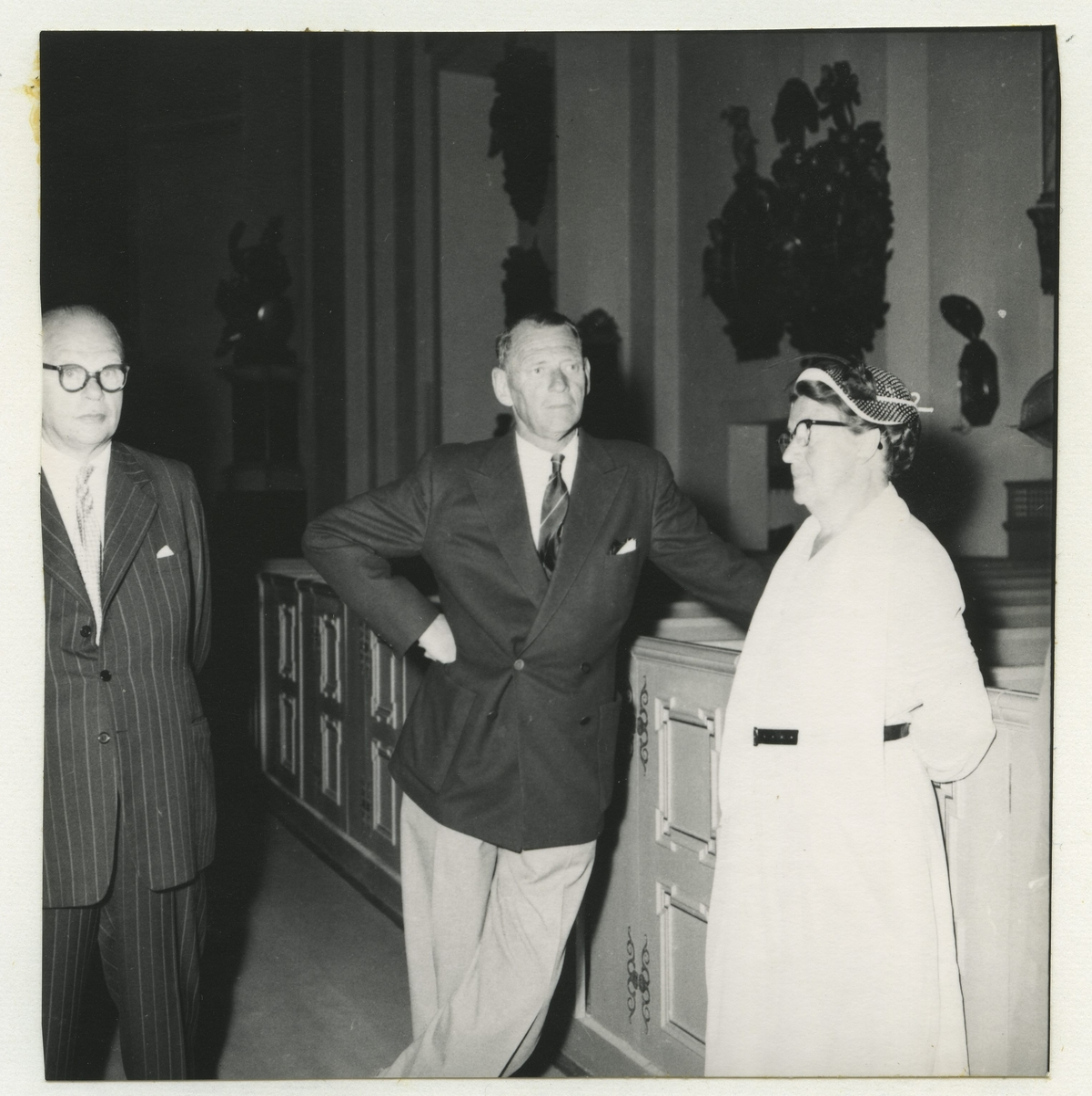 Konung Frederik och landshövding Wagnsson med fru.