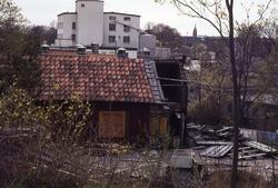 Roten M 13 vid Stalleliden i Mölndal, omkring 1980. I bakgru