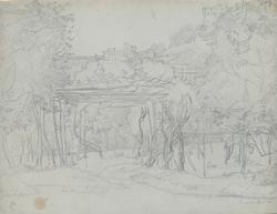 """""""Italien. Terrasina, April 1838. Teckning avJörgen Pedersen"""