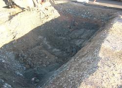 Arkeologisk schaktningsövervakning, VA-schakt, Almungevägen,