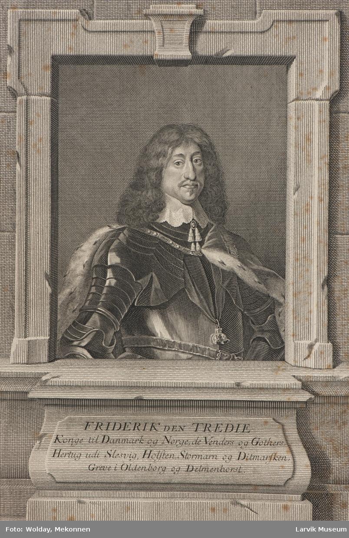Fredrik III i rustn. og herm.kappe elefantorden