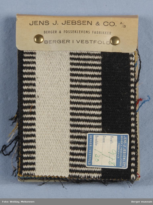 Møbelstoff 12 prøver Tverrstripet - brede striper