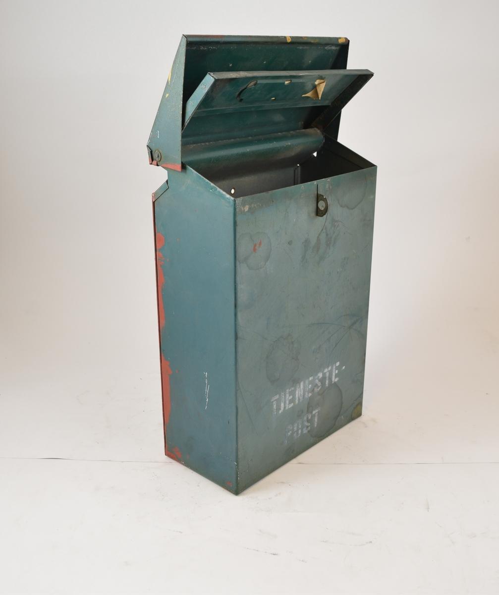 Postkasse til tjenestepost. Låsbar - dobbelt lokk.