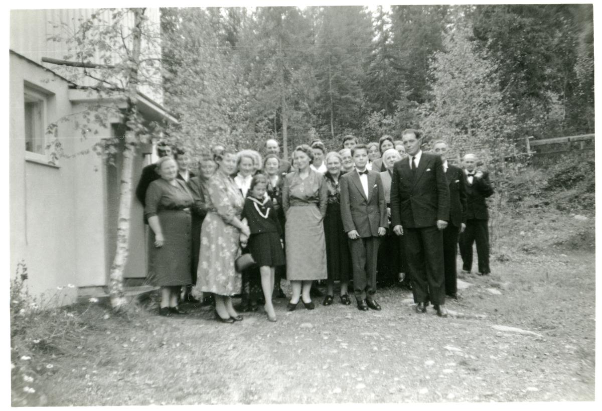 Gjester i konfirmasjonen til Alf Terje Langedrag, 1959.