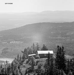 Skogbrannvaktstasjonen på Flotsberget i Elverum sommeren 196