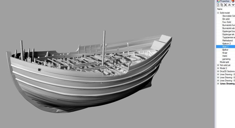 Digital 3D-modell av det arkeologiske skipsfunnet Barcode 2. (Foto/Photo)