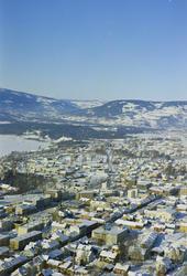 Lillehammer, Oversiktsbilde Lillehammer Sentrum. Storgata sk