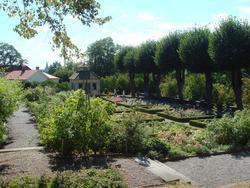 Rosenträdgården sed från Sagaliden. Swedenborgs lusthus och