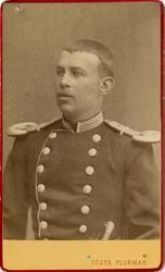 Porträtt av okänd officer vid Forsta livgrenadjärregementet