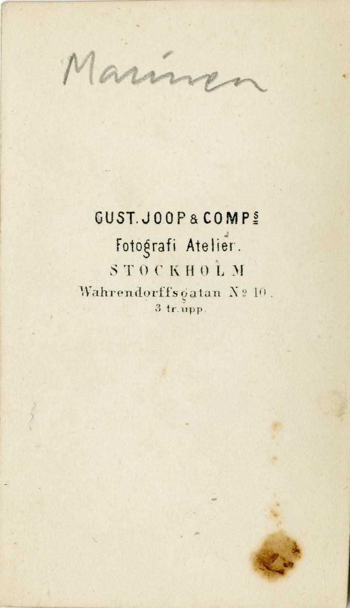 Porträtt av Germund Gottfried Palmstierna, officer vid Flottan.