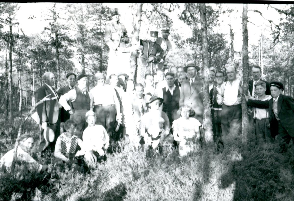 Kulballong m/1930 som landat efter ballongjakt.