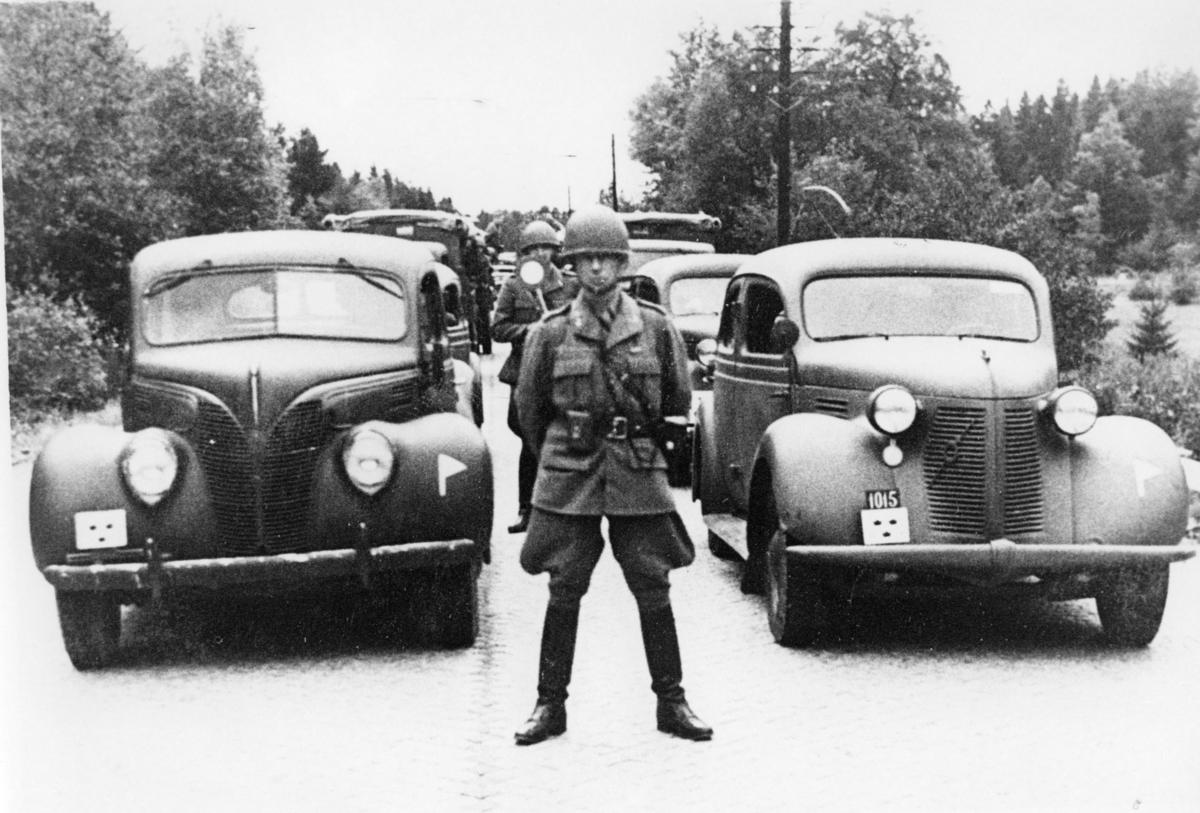 Personbilar, V.Kårdiv. marschfärdiga till Hälsingborg. A 6.