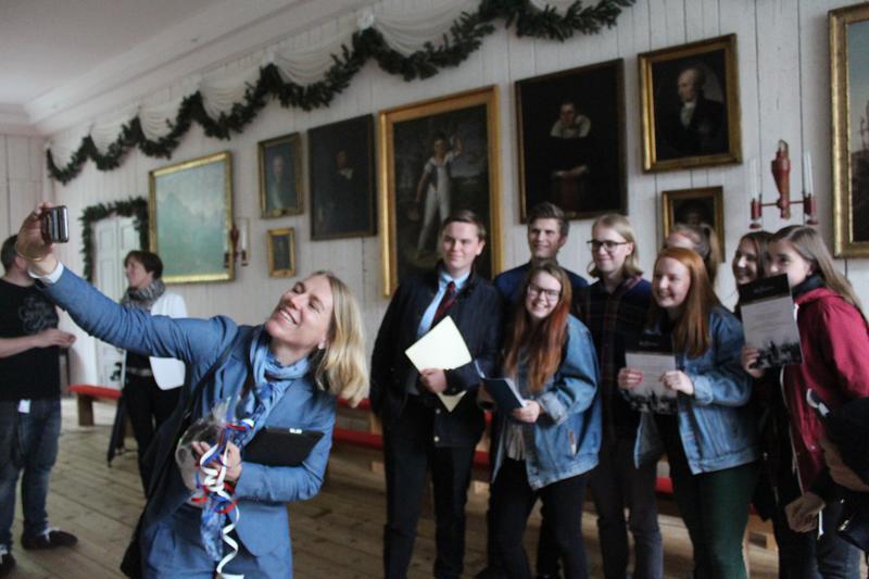 Stortingspolitiker Anniken Huitfeldt talte til de unge om betydningen av å delta, uansett.