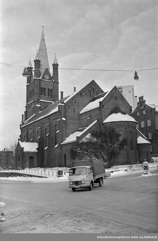 Grønland kirke 100 år, januar 1969.