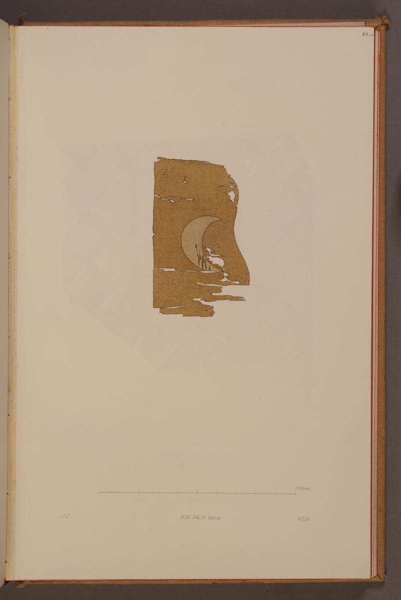 Avbildning i gouache föreställande fälttecken taget som trofé av svenska armén.
