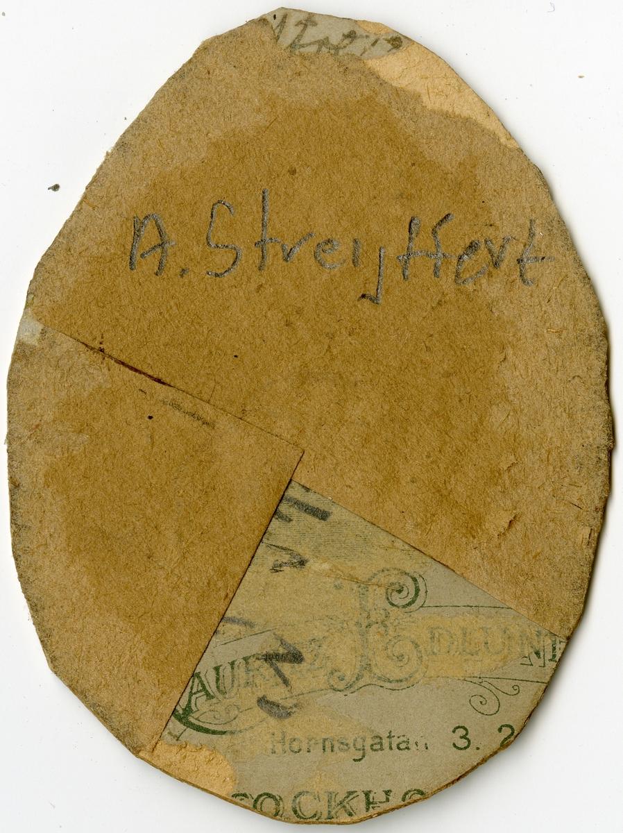 Porträtt av A. streijffert vid Stockholms Tyg-, ammunitions- och gevärsförråd.