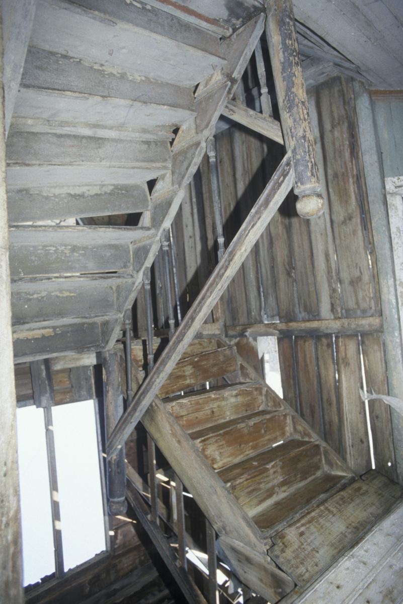 Lillehammer, Strangstadgården, Storgata 96, forretningsgård, trapp fra bakgård
