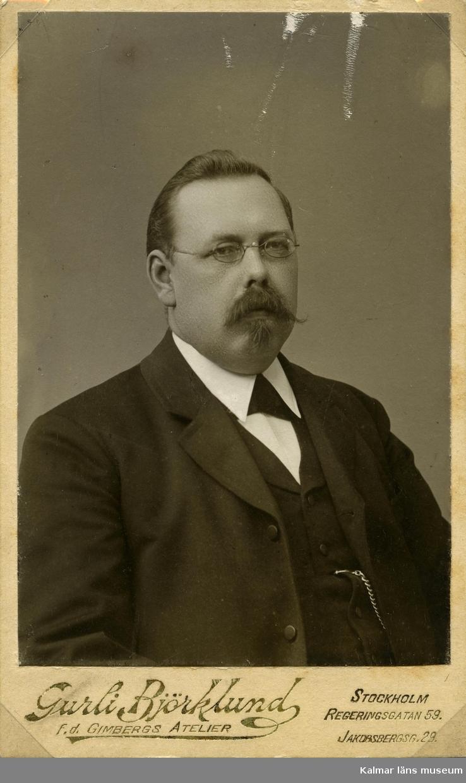Lundell P.O. Riksdagsman Ebbetorp.  Gåva av Hilding Wiblings sterbhus.