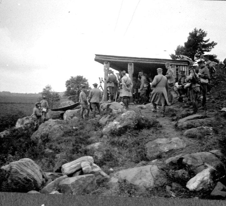 Målobservation från Kyrkbacken. Remmene skjutfält.