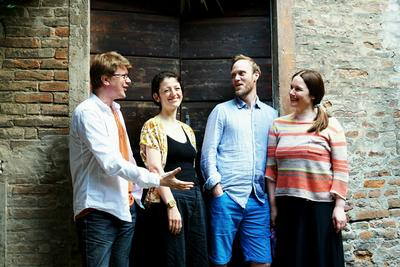 Kvartettspill på Linderud gård i Oslo i sommer