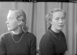 Portrett. Ung kvinne. Bestilt av Erna Torgersen. Sykehuset.