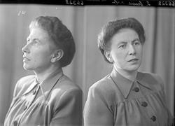 Portrett. Ung kvinne. Bestilt av Borghild Sørdal. Sykehuset.