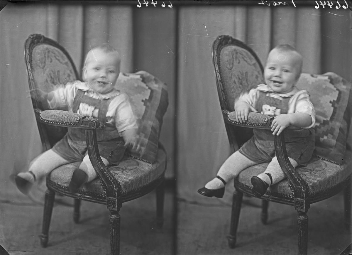 Portrett. Et lite barn. Bestillt av John Gismervik. Dalen. Avaldsnes.