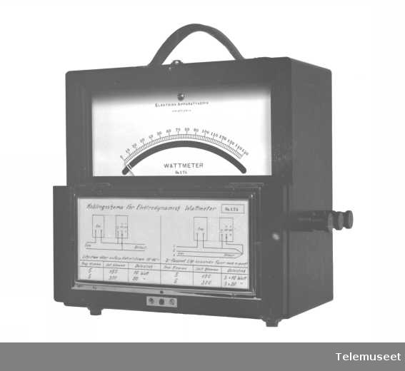Måleinstrument, transp. wattmeter. 12.10.16. Elektrisk Bureau.