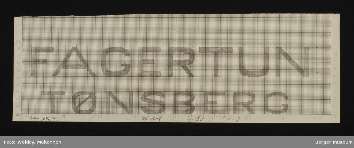 """""""FAGERTUN TØNSBERG"""""""