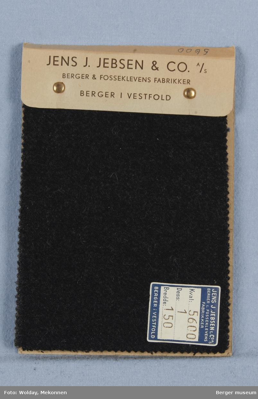 Prøvehefte med 4 prøver Melert Frakk Kvalitet 5600