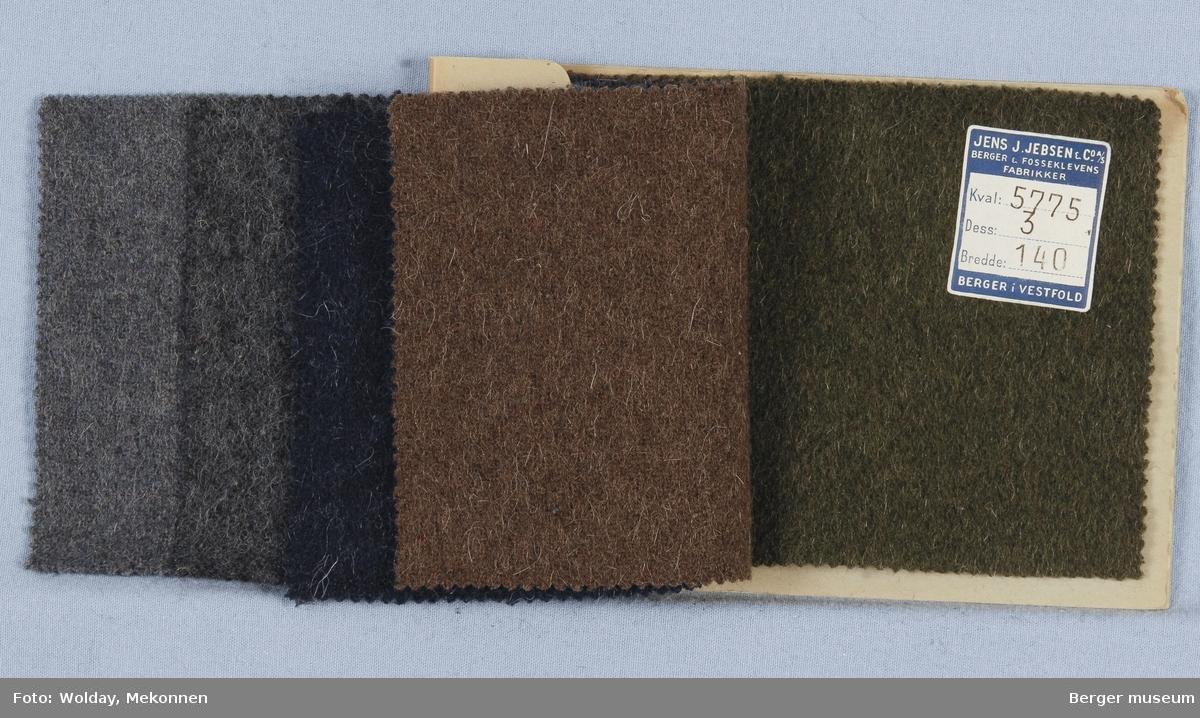 Prøvehefte med 5 prøver Kåpe Kvalitet 5775 Melert