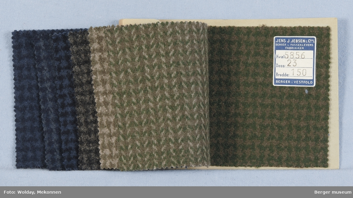 Prøvehefte med 7 prøver Frakk, bekledning Kvalitet 5856B Ruter, pepita-aktig