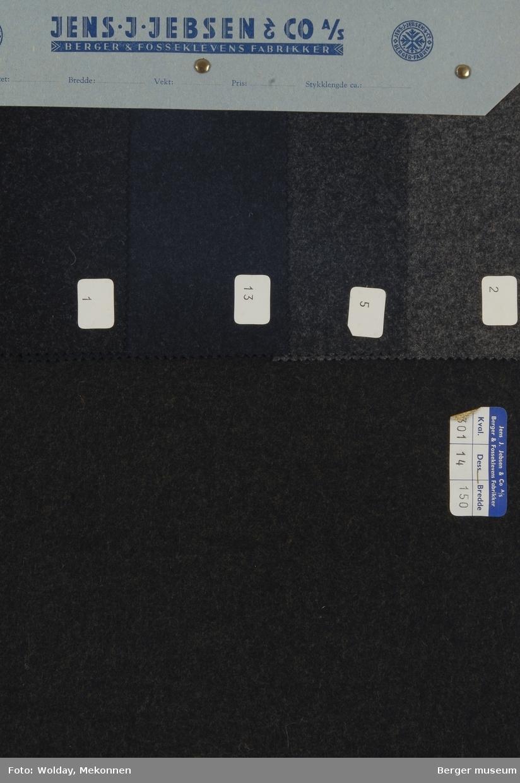 Prøvehefte med 5 prøver Frakk Kvalitet 6301 Melert