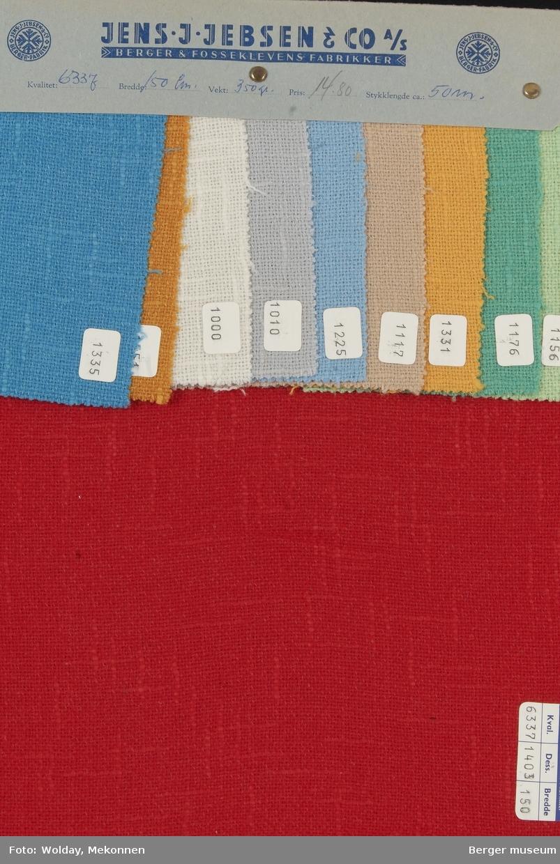 Prøvehefte med 10 prøver Jakke Kvalitet 6331 Stykkfarget