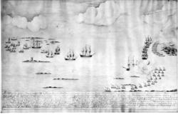 Bataillen vid leesund emellan ryska gallere Escaderen och et