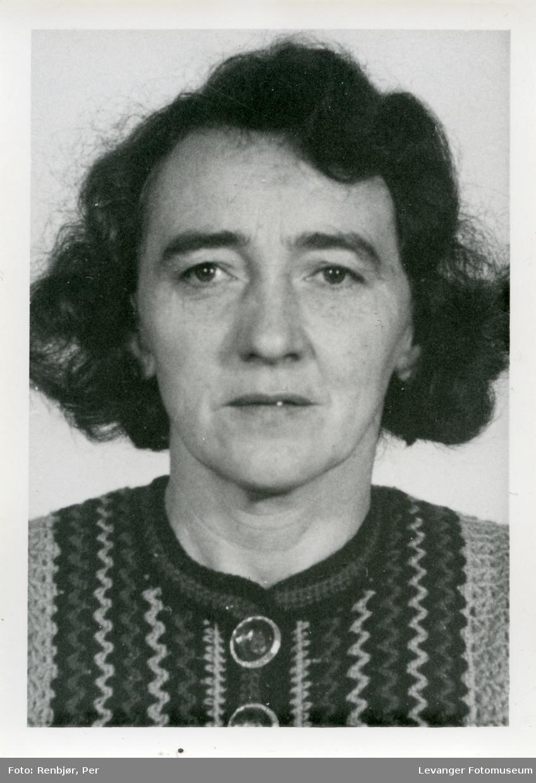 Olga Marie Sørensen, medlem av Riunnanbanden  fotografert i forbindelse med rettsaken.
