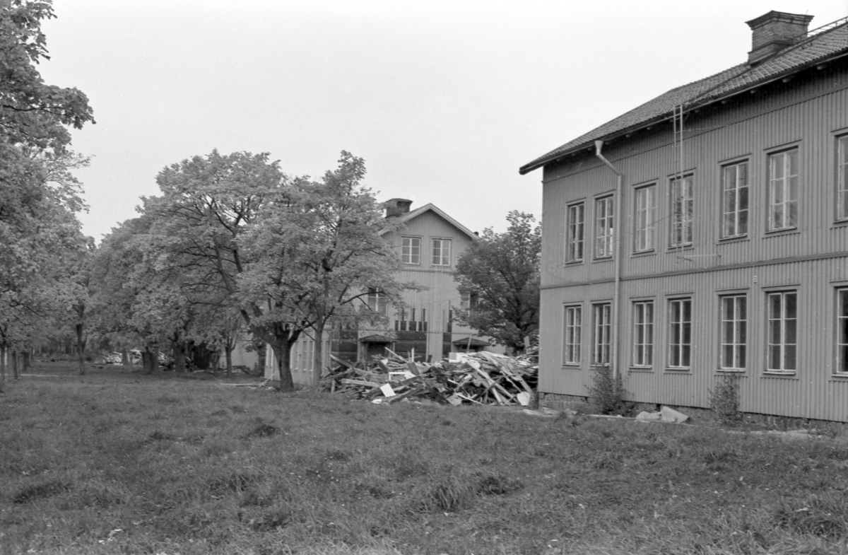 Rivning av hus i Kastet Bomhus. Oktober 1987